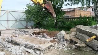 Аренда трактора с гидромолотом | 8 (966) 190-55-66(Разборка бетонных фундаментов и оснований. Вскрытие асфальта гидромолотом. Заказ трактора c гидромолотом..., 2015-12-11T12:32:53.000Z)