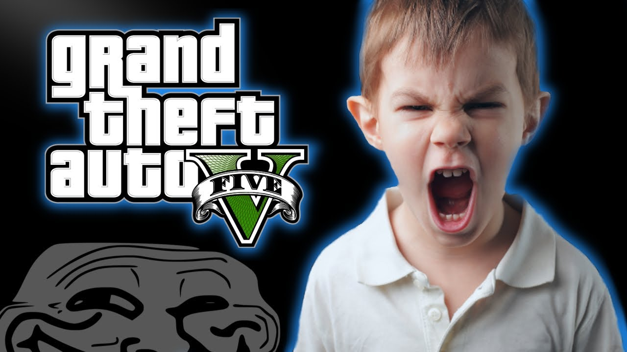 GTA 5 Kid Rages And Cries Over Destroyed Car - YouTube