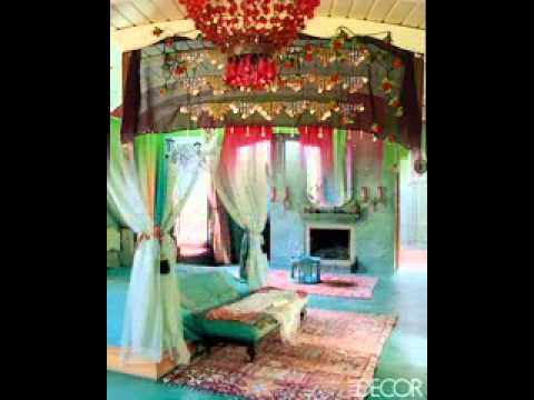 Bohemian bedroom design decorating ideas - YouTube