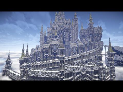 【minecraft】FF14の都市国家イシュガルドを再現してみた
