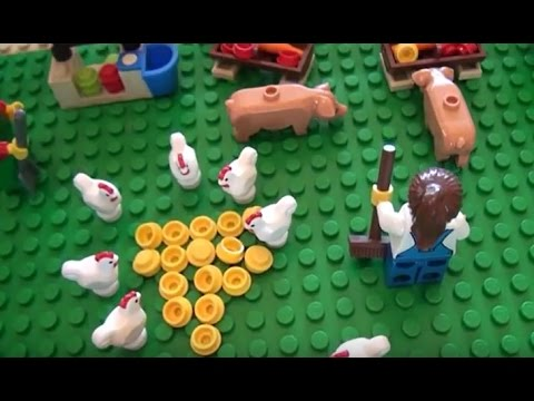 Lego City 2015 Layout Farm Barn Silo Tractors