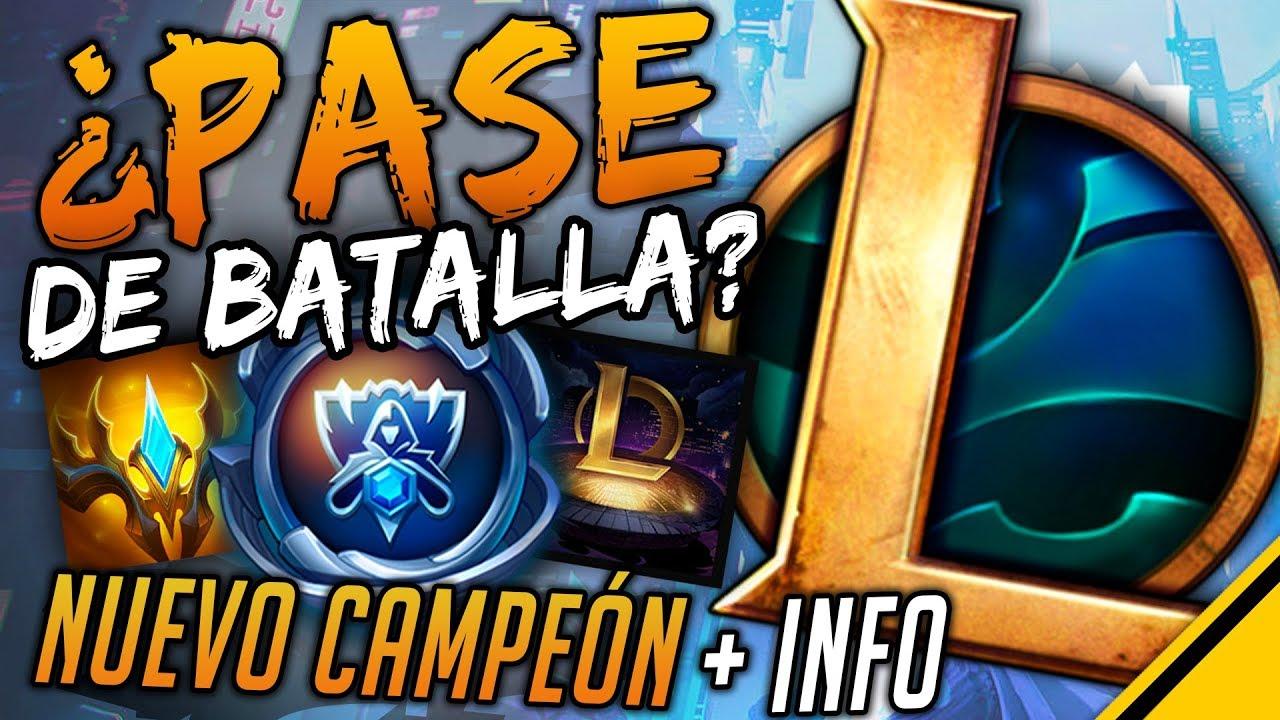 PASE DE BATALLA EN EL LOL? - WORLDS E INFO NUEVO CAMPEÓN | Noticias LoL