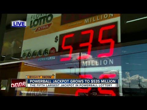 POWERBALL jackpot at $535 million