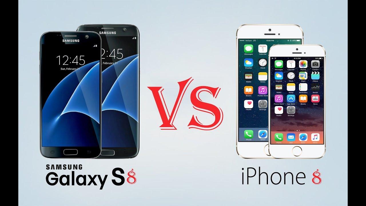 iPhone 8 vs iPhone 7/7Plus, Galaxy S8/S8+, LG G6, Google ...