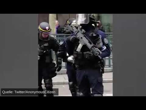 ... werden in Frankreich Maschinengewehre gegen Gelbwesten eingesetzt!