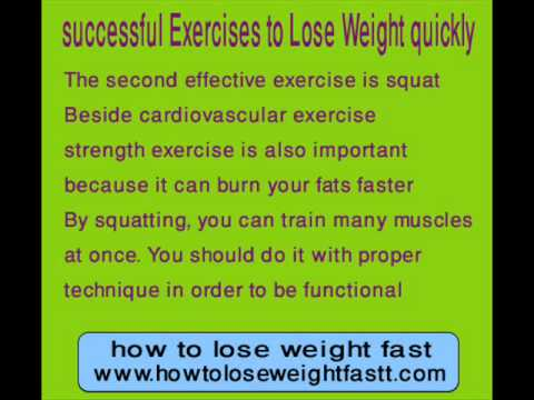 Successful Exercises to Lose Weight Quickly