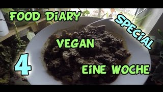 Woche 4: Food Diary vegan / raw