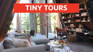 Taylor And Craig's Adorable A-frame Cabin In The Woods | Tiny Tours