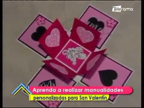 Aprenda a realizar manualidades personalizadas para San Valentín