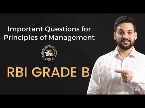 Important Principles Of Management Questions For RBI Grade B