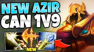 *PROS ARE ABUSING THIS* NEW CONQUEROR AZIR MAKES HIM S+ TIER!! - League of Legends