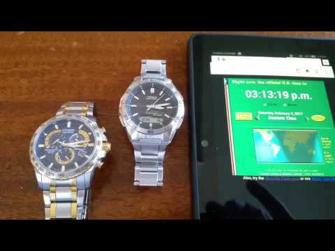 Watch Comparison - Atomic Clock Syncing