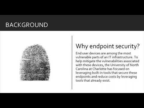 Increasing Security by Focusing on the End Points