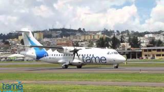 Tame Línea Aérea del Ecuador New ATR 42-500 arrival.
