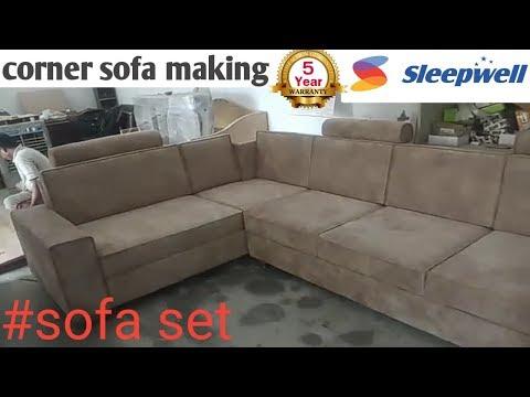 #L -SHAPE SOFA MAKING #modern sofa delhi/ #sofa set #U-shape sofa design 2019 latest