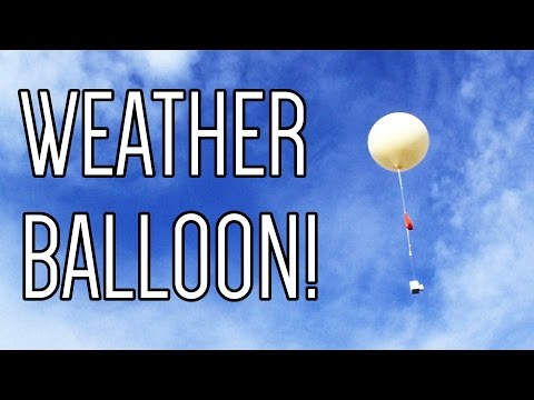 Launching a weather balloon!
