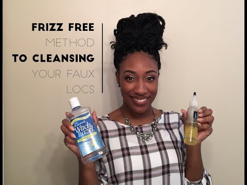 Frizz Free Method to Cleansing Your Scalp With Goddess Faux Locs