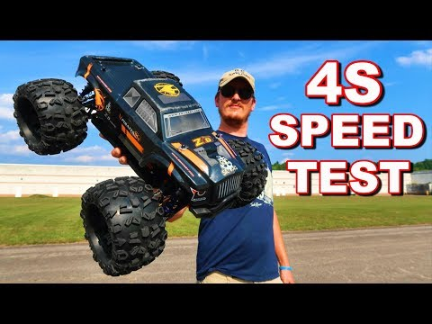 POWERFUL 4S RC Monster Truck Speed Test -  ZD Racing MT8 Pirate 3 - TheRcSaylors
