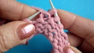 Урок 43 Скрещенная изнаночная петля вязание спицами Knitting basics(Вязания спицами скрещенной изнаночной петли за заднюю стенку петли Подписаться на все новые видео-уроки..., 2013-10-28T09:20:16.000Z)
