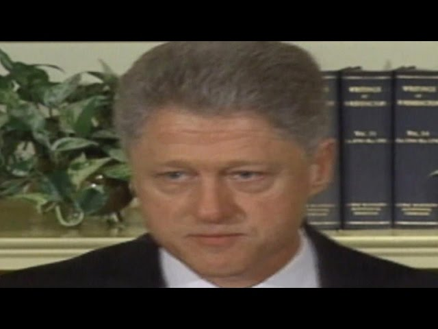 This Day In History: Bill Clinton says