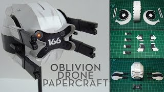 Oblivion Drone Papercraft (Stop-motion assembly)