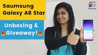 Samsung Galaxy A8 Star Unboxing & 🔥Giveaway🔥, Hands on Review, Camera Performance, Specs, Features