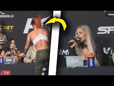 EWELONA VS GODLEWSKA - NAJLEPSZE MOMENTY - 2 KONFERENCJA FAME MMA 5!! *dostała plaskacza*🔥