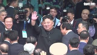 Quay chậm hình ảnh ông Kim Jong Un rời ga Đồng Đăng về nước