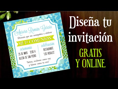 como hacer una invitacion online gratis