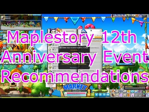 [Maplestory] 12th Anniversary Events that may be of interest.