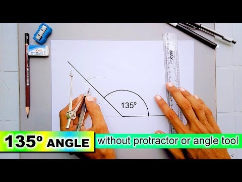 Learn 135 degree angle without protractor or angle tool