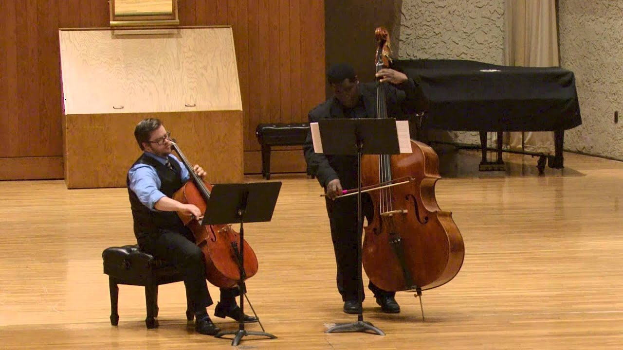 Rossini - Duet for Cello and Double Bass in D Major - YouTube