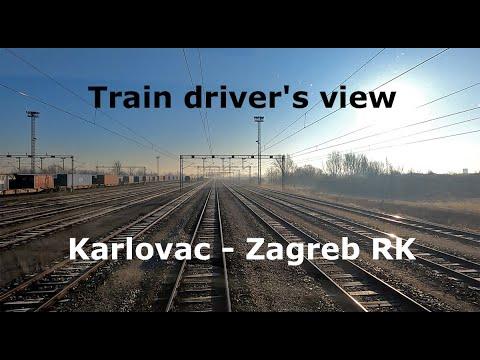 [Train driver's view] Karlovac - Zagreb RK