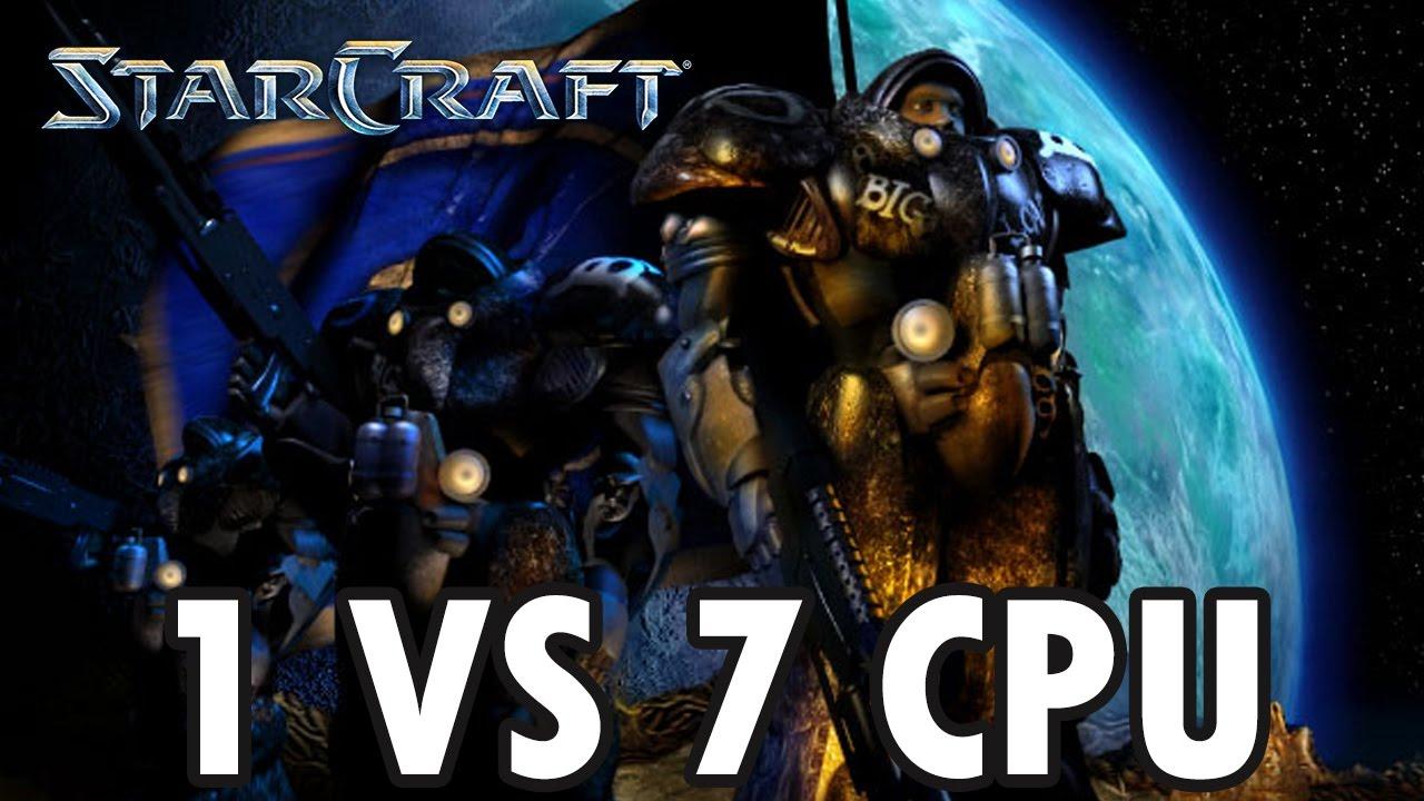 Download StarCraft Brood War - Terran vs 7 Random Computer - Map: Big Game Hunters (Walkthrough)