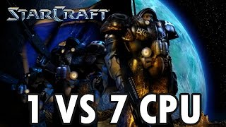 StarCraft Brood War - Terran vs 7 Random Computer - Map: Big Game Hunters (Walkthrough)