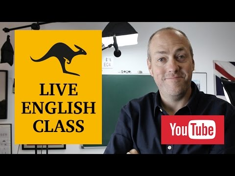 Live English class | November 22, 2016 | Canguro English