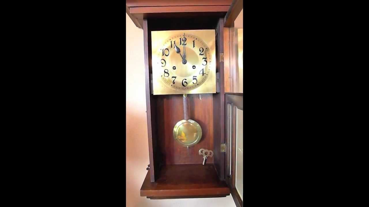 German Wall or Box Clock by Kienzle stiking 11 oclock 1202mov