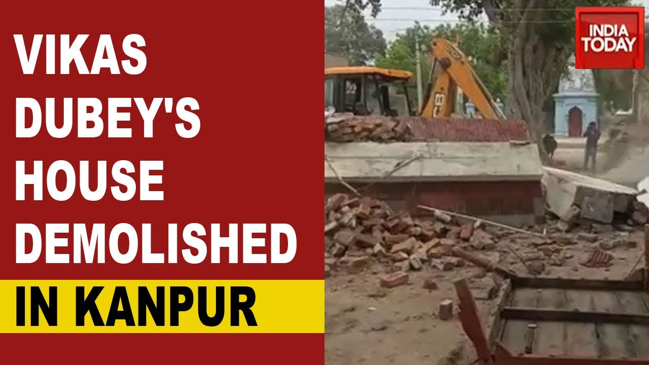 Kanpur Encounter: Uttar Pradesh Police Demolishes Gangster Vikas Dubey's House In Bithur