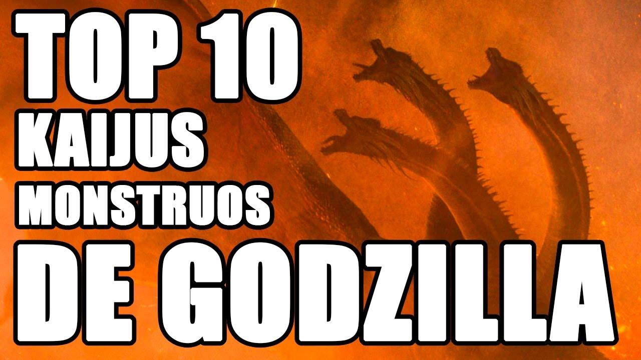 Top 10 Monstruos y Kaiju de Godzilla - YouTube