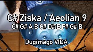 Dugimago Vida C# Aeolian aka Ziska 9 + Ding scale