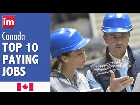 Top 10 Highest Paying Jobs in Canada | Employment and Wages in Canada