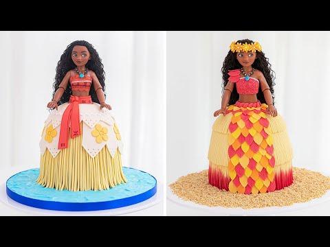 DISNEY PRINCESS - MOANA Doll Cake Tutorial - Tan Dulce