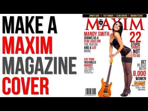 GIMP Tutorial: Create a Maxim Magazine Cover