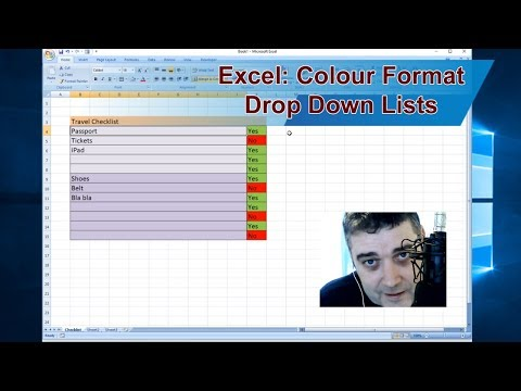 How to make a drop down list in excel 2020 with colors