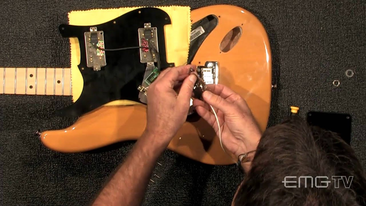 Easy Solderless Emg St12 Install Into Strat Guitar Youtube Emgactivepickupwiring Active Pickup Wiring Http