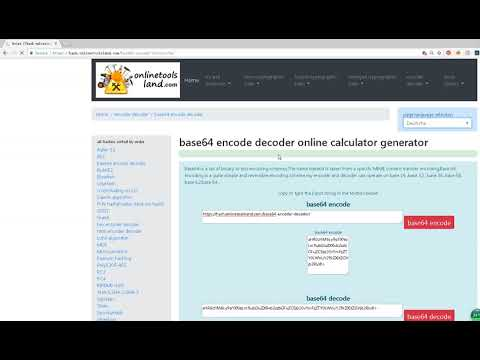 base64 encode decode online - YouTube