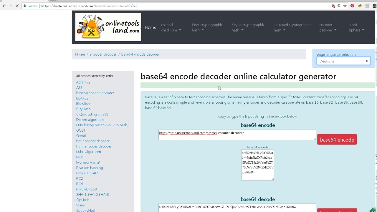 Video: base64 encode decode online - GWS Online GH
