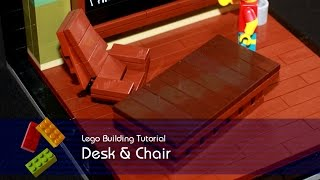 Lego Tutorial - Building A Desk And Chair From The Simpsons Springfield School Classroom
