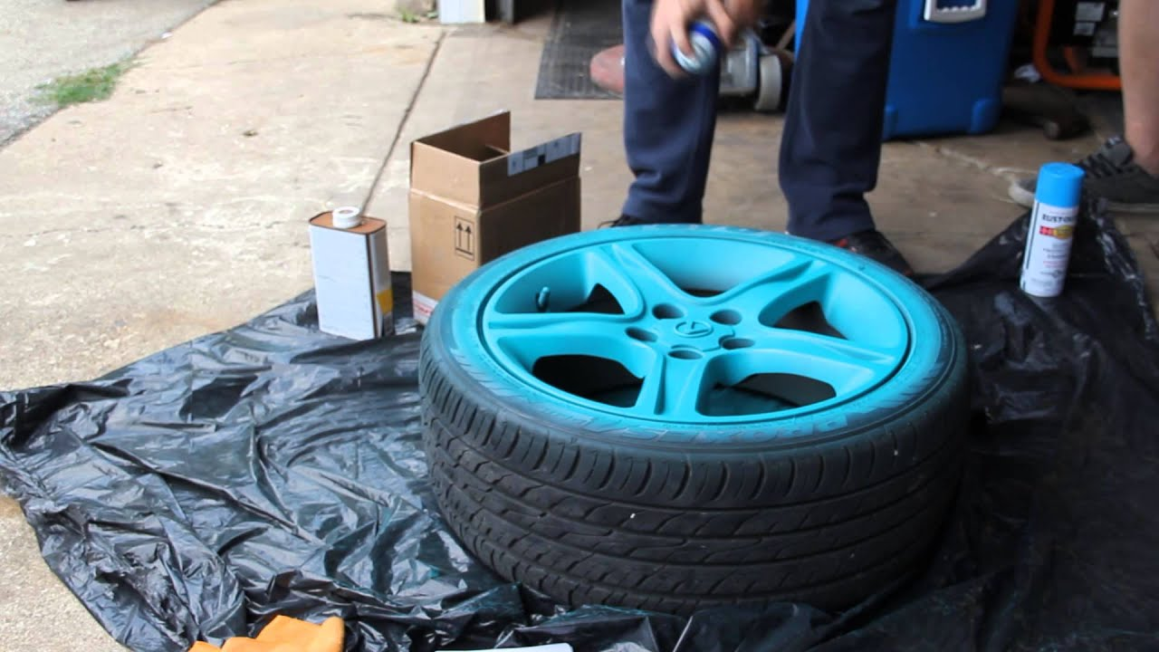 plasti dipping my rims intense teal youtube
