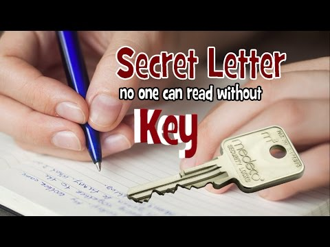 Secret Letter .. nobody can't read without KEY ..